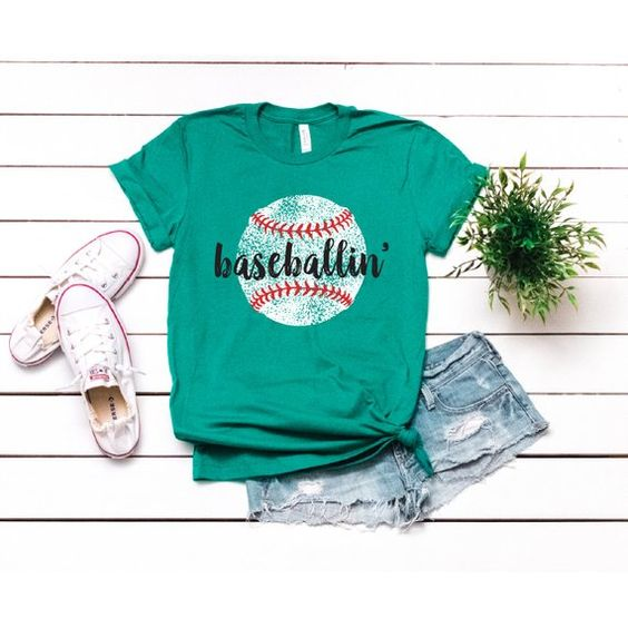 Baseball Mom Shirts T-Shirt HN22N