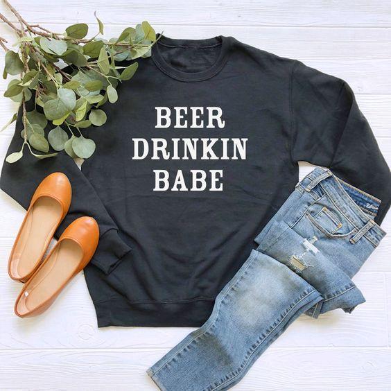 Beer Drinking Babe sweatshirt AI26N