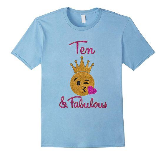 Birthday Girl Fabulous Emoji T-Shirt ER1N