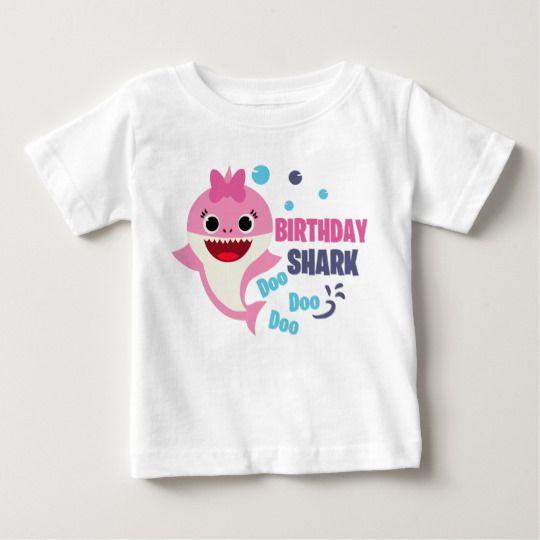 Birthday Shark Baby T-Shirt ER1N