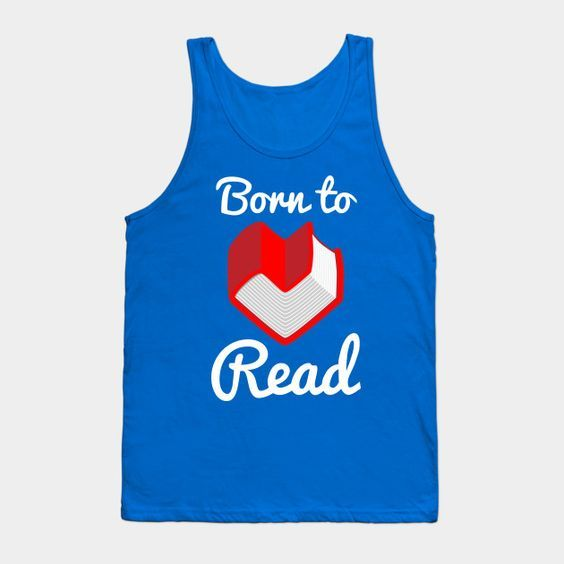 Born to Read Books Tanktop ER28N