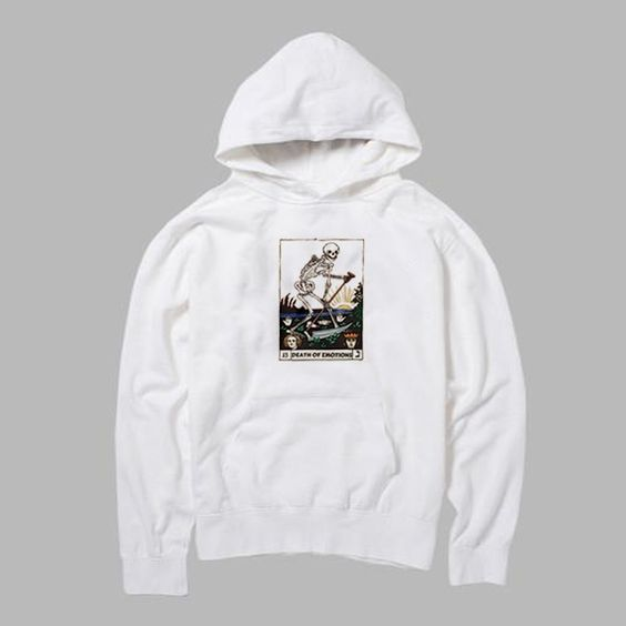 Death Of Emotions Card Hoodie ER29N