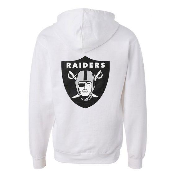 Raiders Back White Hoodie ER28N