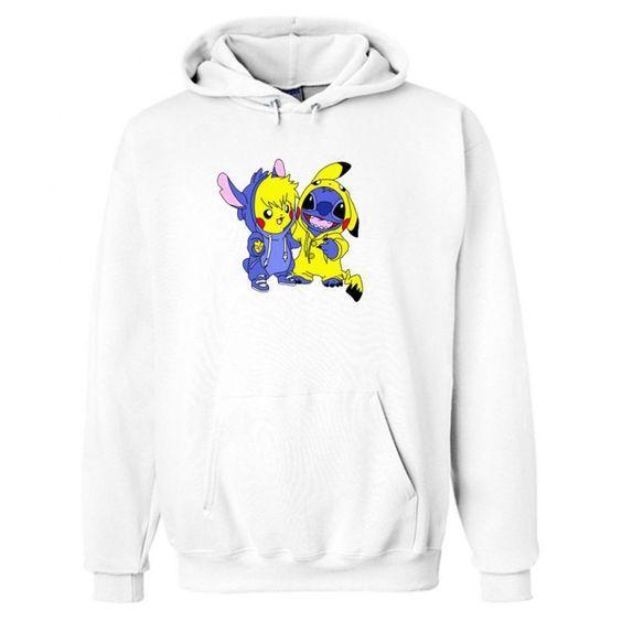 Stitch & Pikachu Hoodie EM26N