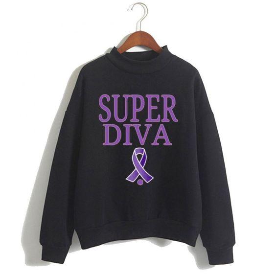 Super Diva Cancer Sweatshirt N14VL