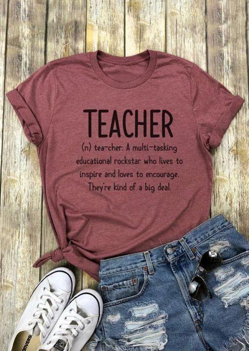 Teacher Tshirt EL6N