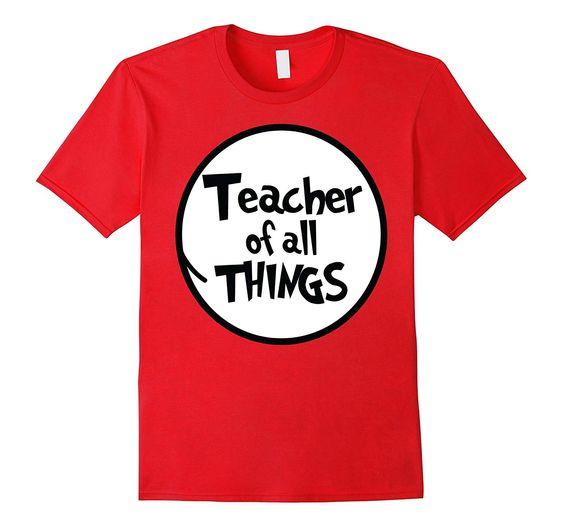 Womens Teacher Things Tshirt EL6N