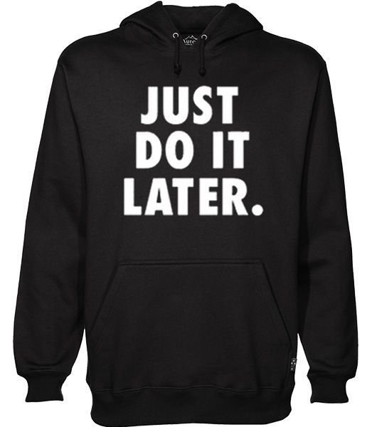 do it later hoodie N22RS