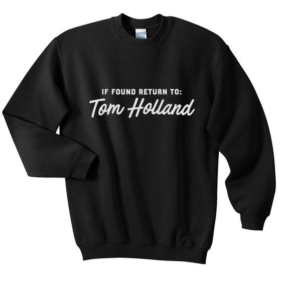 found return to tom holland sweatshirt N22AI