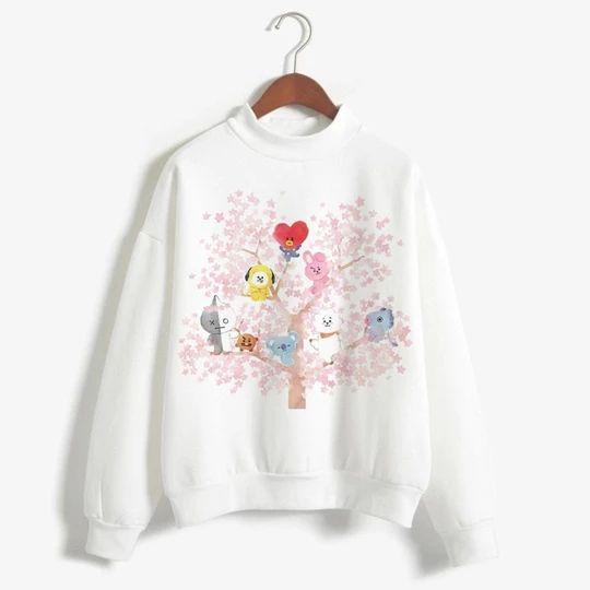BT21 Women Sleeve Sweatshirt D4AZ