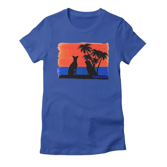 Beach Dogs At Sunset T-Shirt RS26D