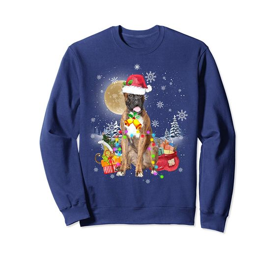 Boxer Christmas Sweatshirt EM3D