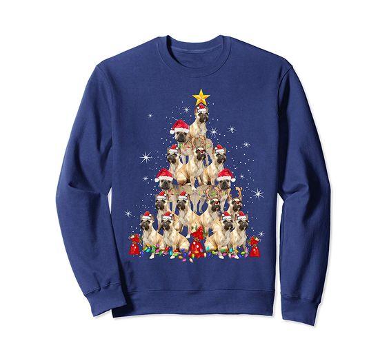 Bulldog Christmas Sweatshirt EM3D