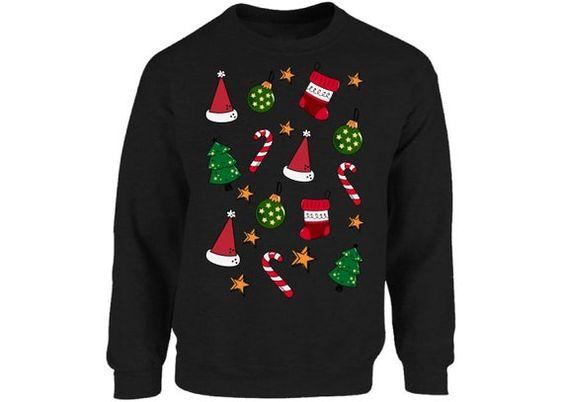 Christmas Pattern Sweatshirt EM3D