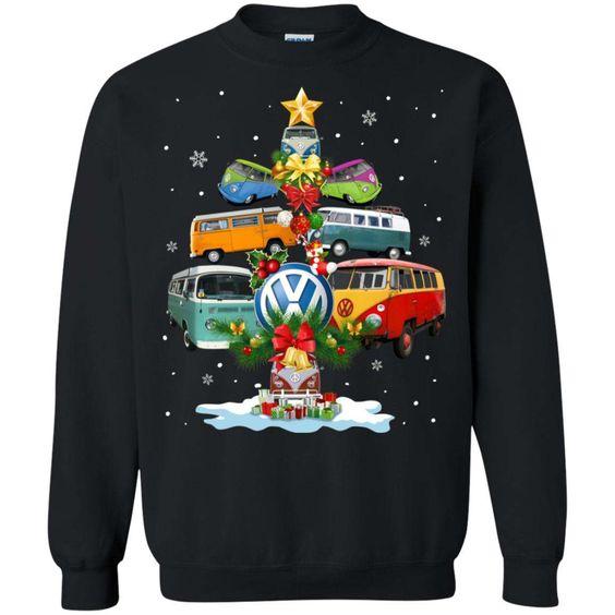 Christmas Volkswagen Bus Sweatshirt D9EM