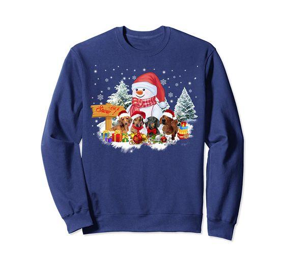 Dachshund Snowman Sweatshirt EM3D