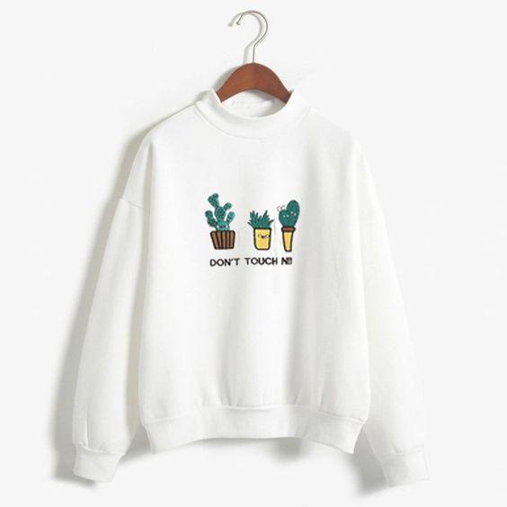 Don't Touch white sweatshirts ER3D