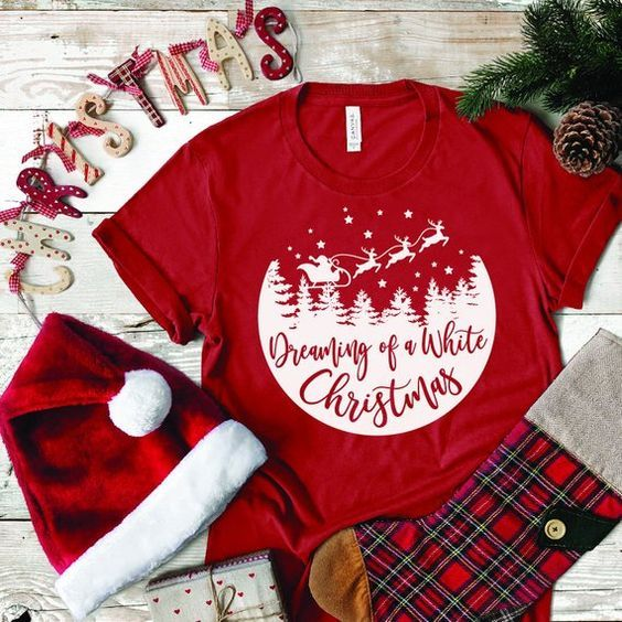 Dreaming of a White Christmas T-Shirt VL6D