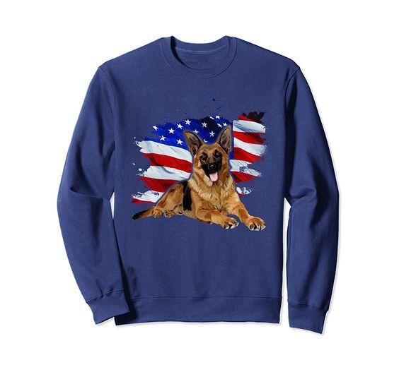 German Shepherd American Sweatshirt EM3D