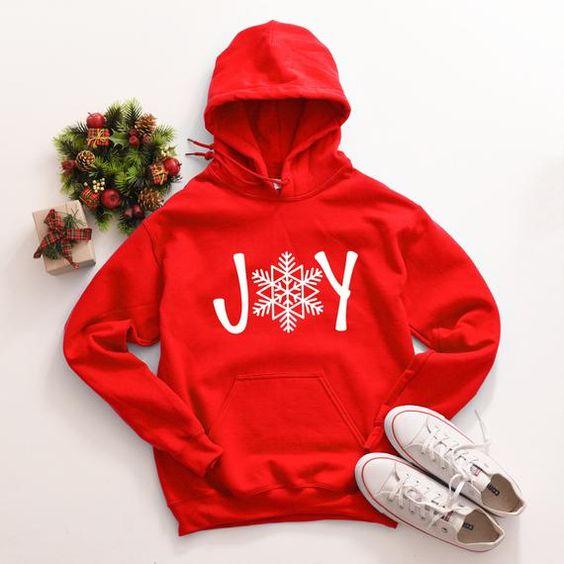 Joy Christmas Red Hoodie VL6D