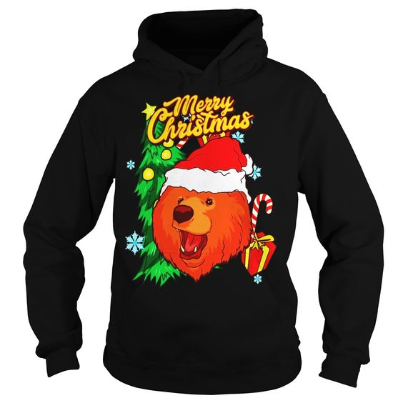 Merry Christmas Lion Hoodie EM7D