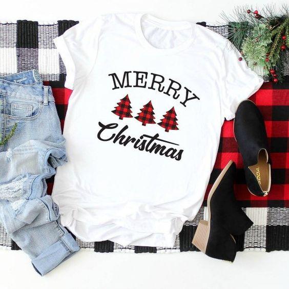 Merry Christmas Womens T-Shirt EM7D