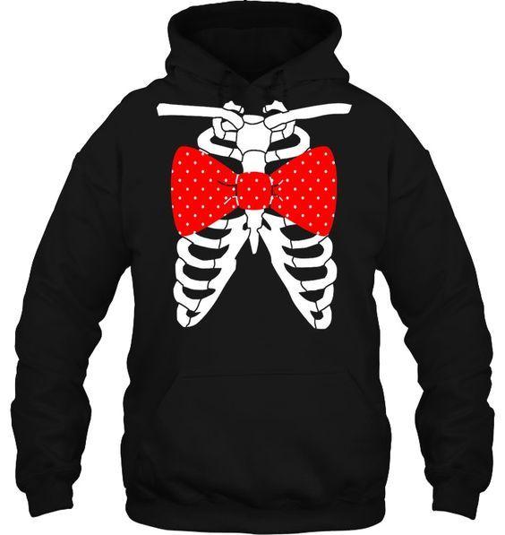 Skeleton Design Hoodie EM7D