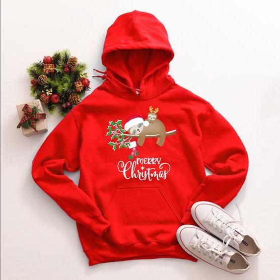 Sloth Christmas Hoodie D9EM