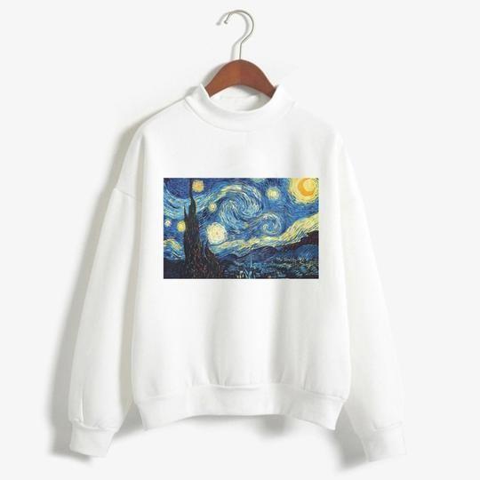 Van Gogh Crewneck Sweatshirt D4AZ