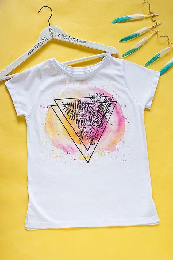 Watercolor Leaf T-Shirt EM3D