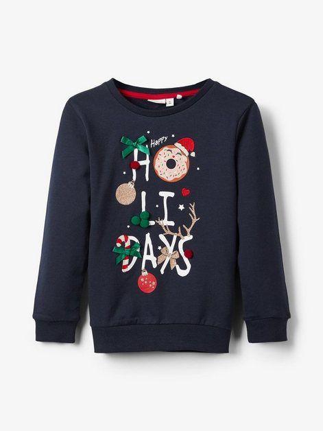Weihnachtsprint Sweatshirt EM3D