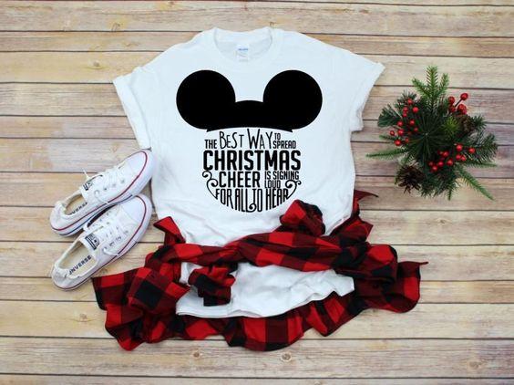 Women's Disney Christmas T-Shirt EM9D