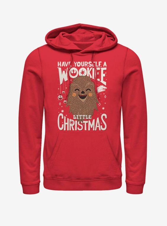 Wookie Christmas Hoodie D9EM