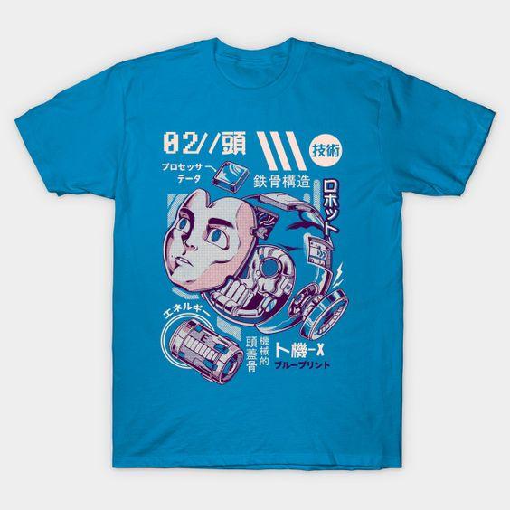 X's head -Astro Boy T-Shirt RS26D