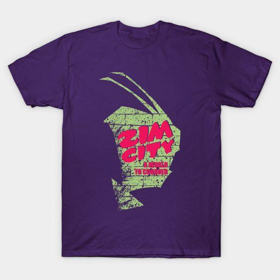 Zim City Invader Zim T-Shirt VL24D