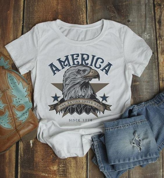 Women's America T Shirt Fd28J0