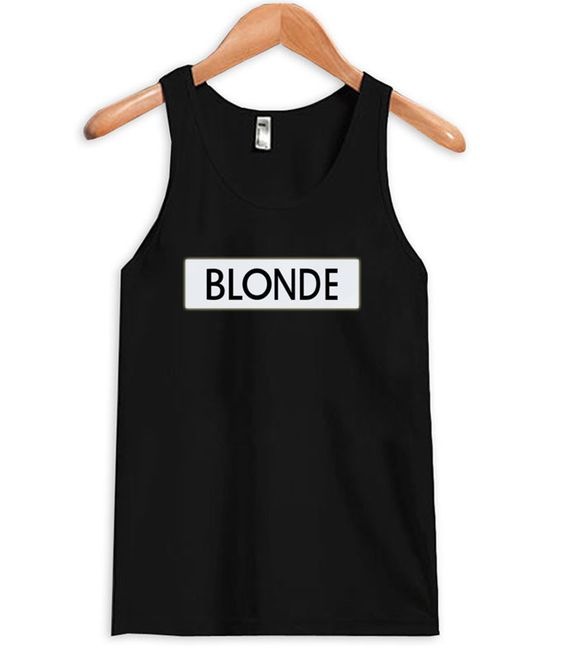 Black Blonde Tanktop MQ06J0