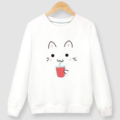 Cat Drink Sweatshirt EL10F0