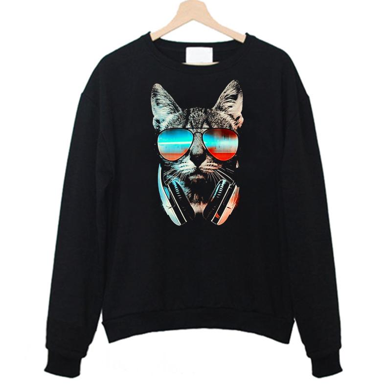 Cool Cat Wear Glasses Sweatshirt FD4F0