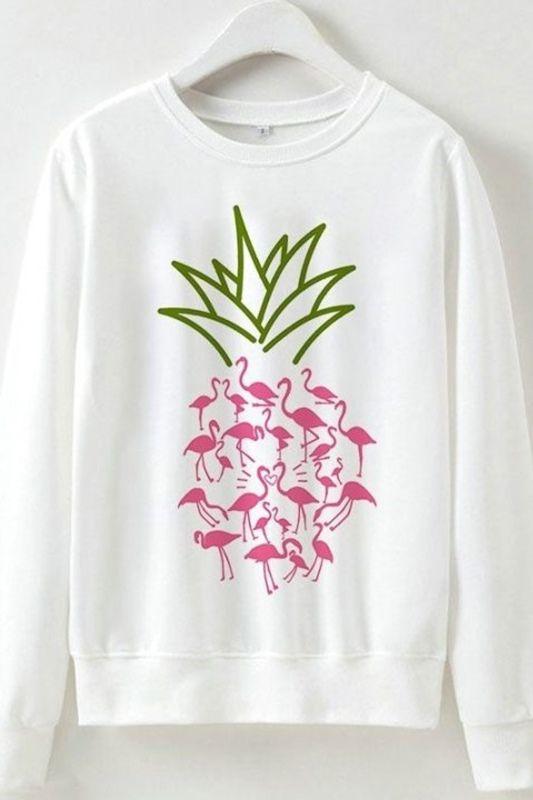 Flamingo Pineapple Sweatshirt EL10F0