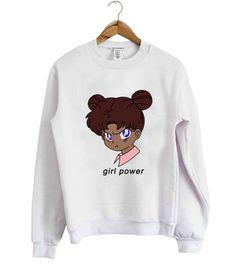 Girl Power Anime Sweatshirt EL10F0