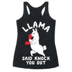 Llama Said Knock You Out Tanktop TY29F0