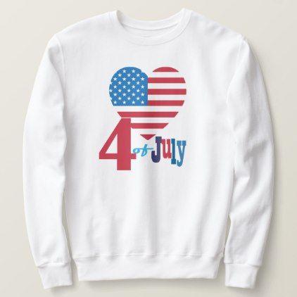 USA Flag Heart Sweatshirt EL10F0