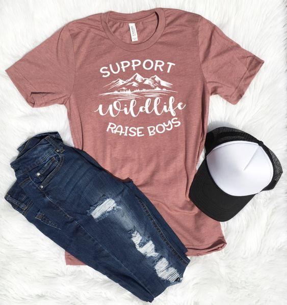 SUPPORT WILDLIFE RAISE BOYS T-shirt DF3M0