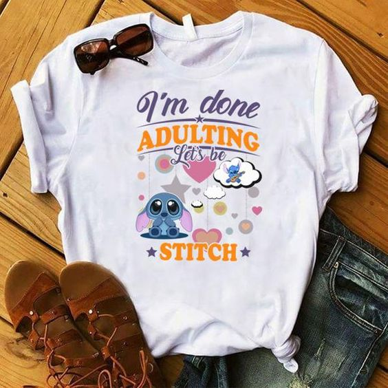 Adulting Stitch T Shirt EP3A0
