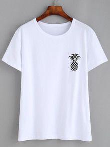 White Pineple T-Shirt ND21A0