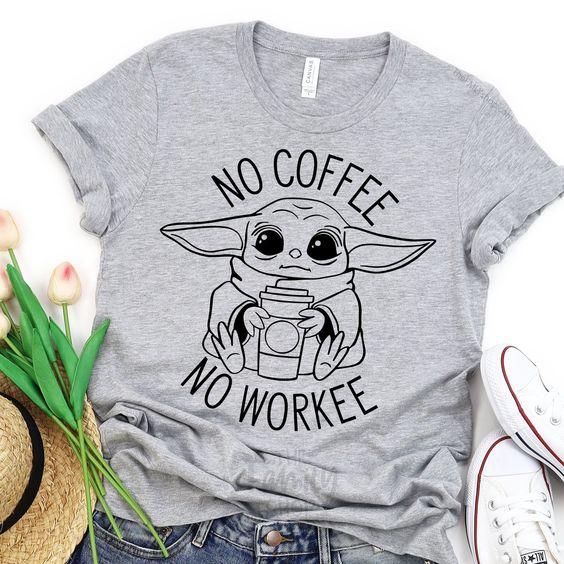 No Workee Yoda T-Shirt AN21JL0