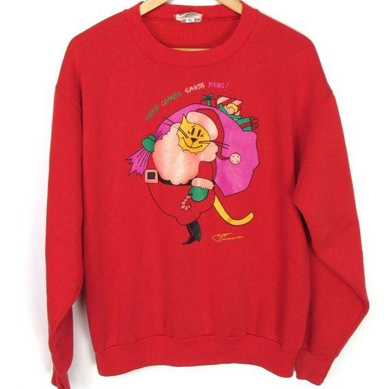 Cat Santa Claus Sweatshirt TA12AG0