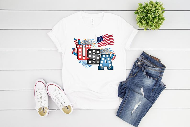 USA Distressed Shirt AS2S0