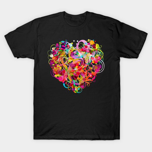 Abstract Colorful Love T-Shirt AL9N0